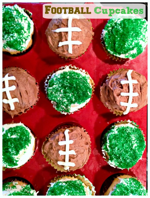 It's too cute to be this easy. Whip up a batch of these adorable football cupcakes for your next Superbowl party or end of the season party.
