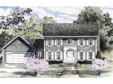 Colonial House Plans   The House Plan Shop Colonial House Plan  014H 0054