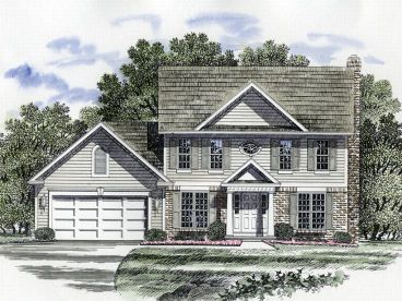 Colonial House Plans   The House Plan Shop Colonial Home Design  014H 0048