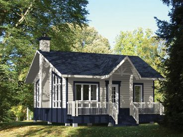 Cottage House Plans   The House Plan Shop Cottage Home Plan  072H 0187