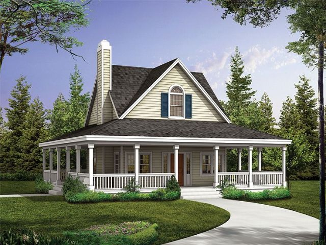 Country House Plans   The House Plan Shop Country House Plan  057H 0040