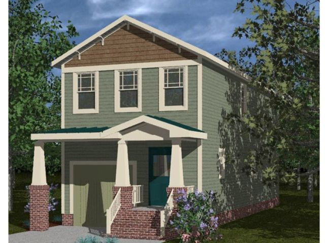 The House Plan Shop Blog      The Skinny on Narrow Lot House Plans Narrow Lot House Plan 058H 0066