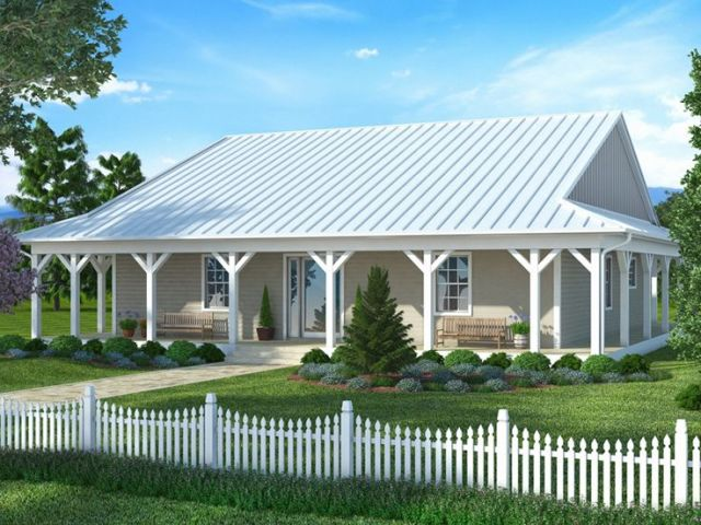 Plan 069H 0002   Find Unique House Plans  Home Plans and Floor Plans     Country Ranch Home  069H 0002