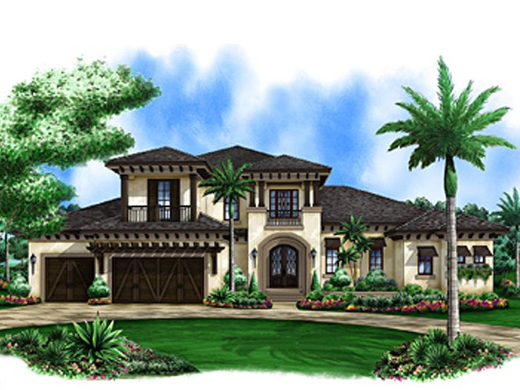 Mediterranean Home Plans   Luxurious Mediterranean House Plan   037H     Mediterranean House Plan  037H 0193