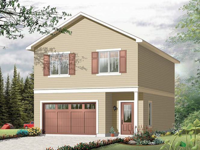 Garage Apartment Plans Carriage House Plan And Single Car