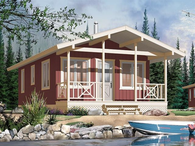 Cottage House Plans   The House Plan Shop Cabin Home Plan  027H 0155