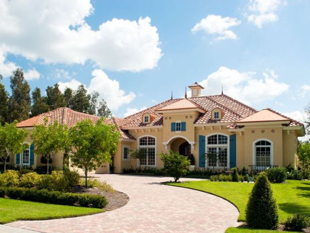 Mediterranean Home Plans   Luxury Mediterranean House Plan Design     Mediterranean House Plan  070H 0002