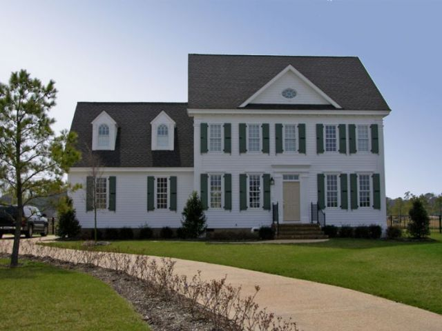 Colonial House Plans   The House Plan Shop Cape Cod Home Plan Photo  063H 0136