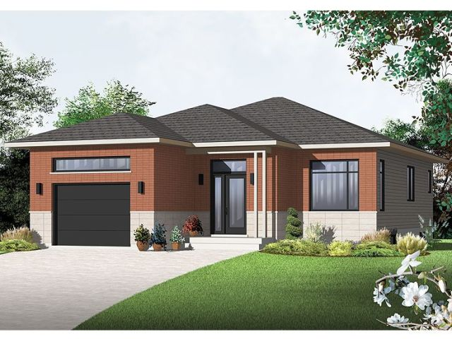 The House Plan Shop Blog      New House Plans Including Contemporary     Contemporary House Plan 027H 0296