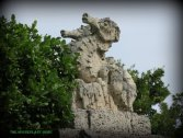 Seahorse on top of the gatge