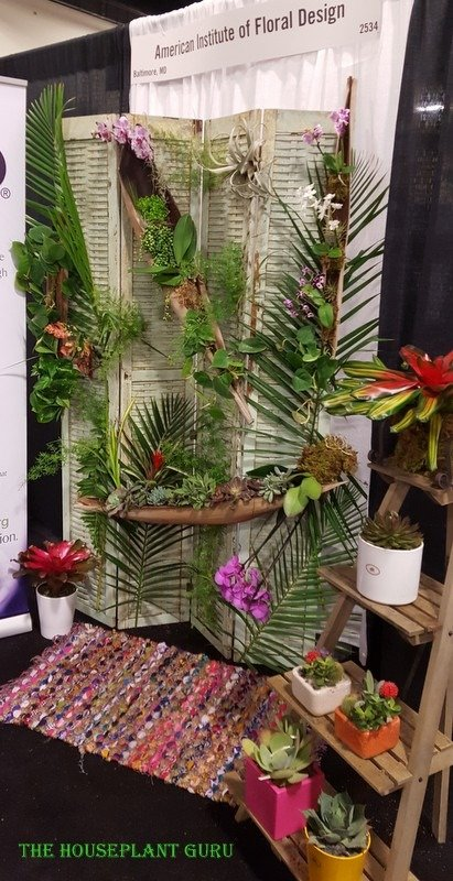 American Institute of Floral Design display. Re-purposed awesomeness!