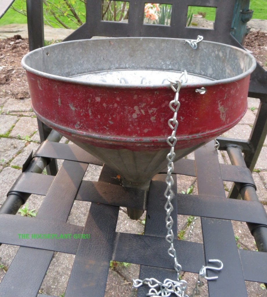 Dad's antique metal funnel