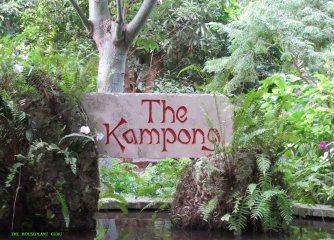 The sign welcoming all to The Kampong, David Fairchild's Florida home