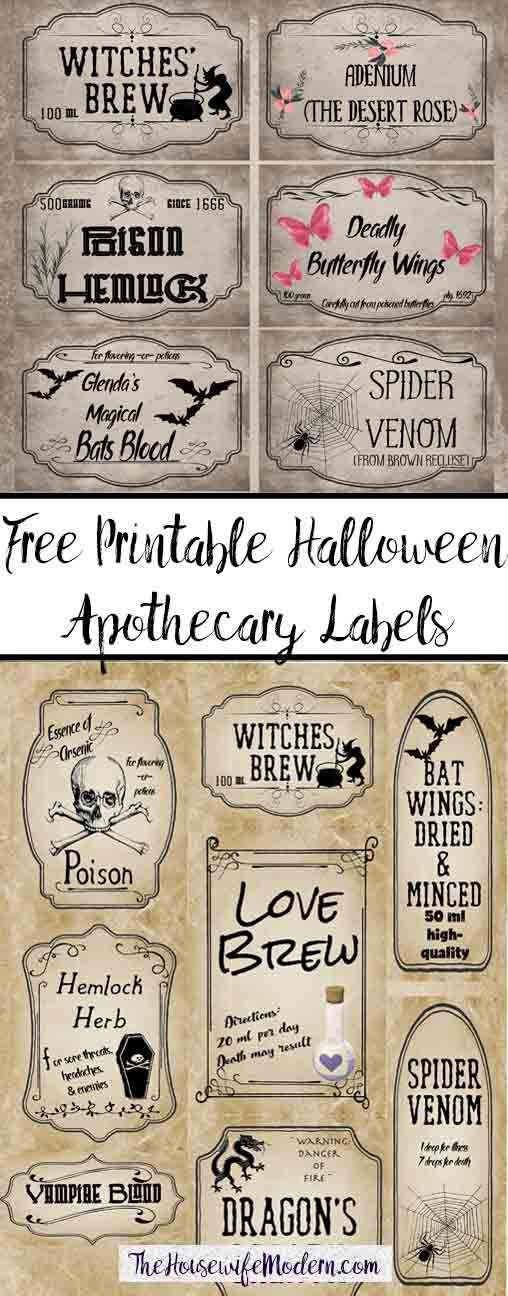 photo relating to Free Printable Halloween Apothecary Labels referred to as Cost-free Printable Halloween Apothecary Labels