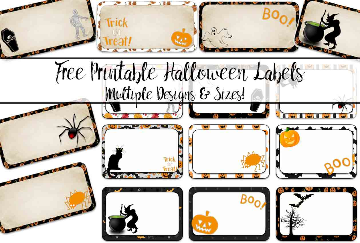 Free Printable Halloween Labels Multiple Sizes Multiple