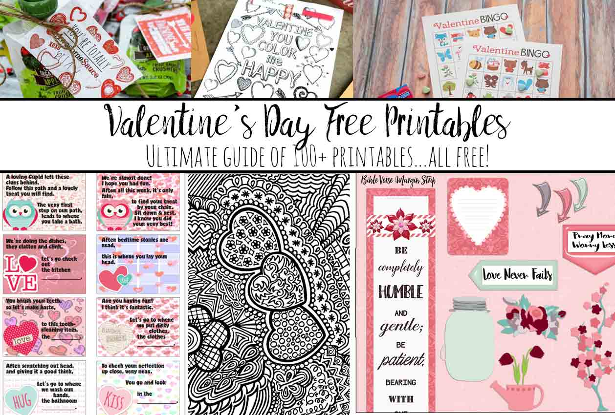 Ultimate List Of Valentine S Day Free Printables