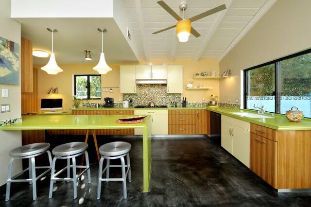 mid century modern-kitchen lighting