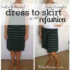How to Turn a Dress into a Skirt – Without Sewing!