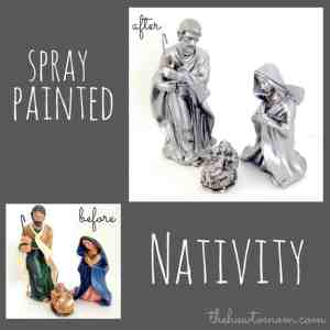 DIY Nativity Set – use spray paint to transform a cheap Nativity set
