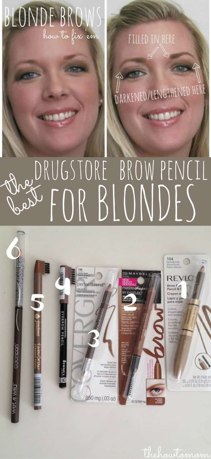 The Best Drugstore Brow Pencil for Blondes - comparison and review of 6 under $10