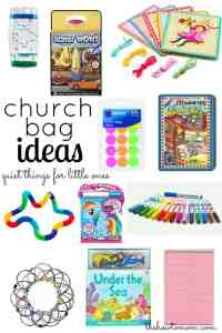 Quiet bags –  for church, appointments, car rides, etc.