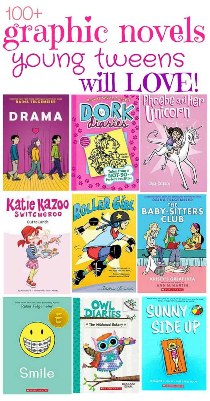 100+ Graphic Novels for Young Tweens
