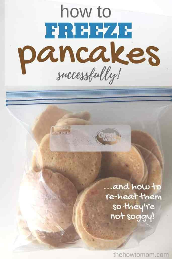 How to Freeze Pancakes Successfully - and re-heat them so they are not soggy!