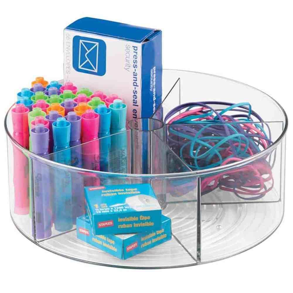Gift Ideas for Crafty Girls - Round Desk Organizer