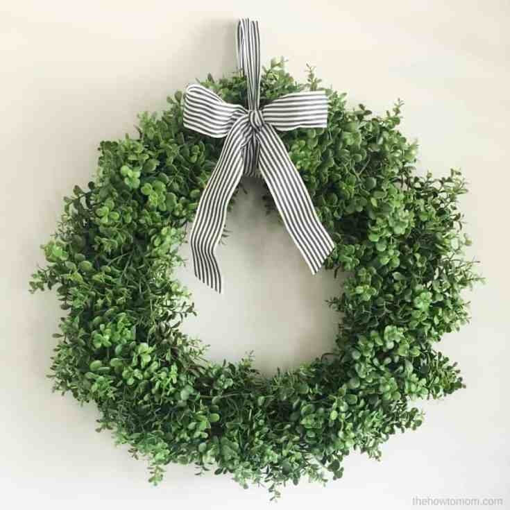 Faux Boxwood Wreath - Simple!