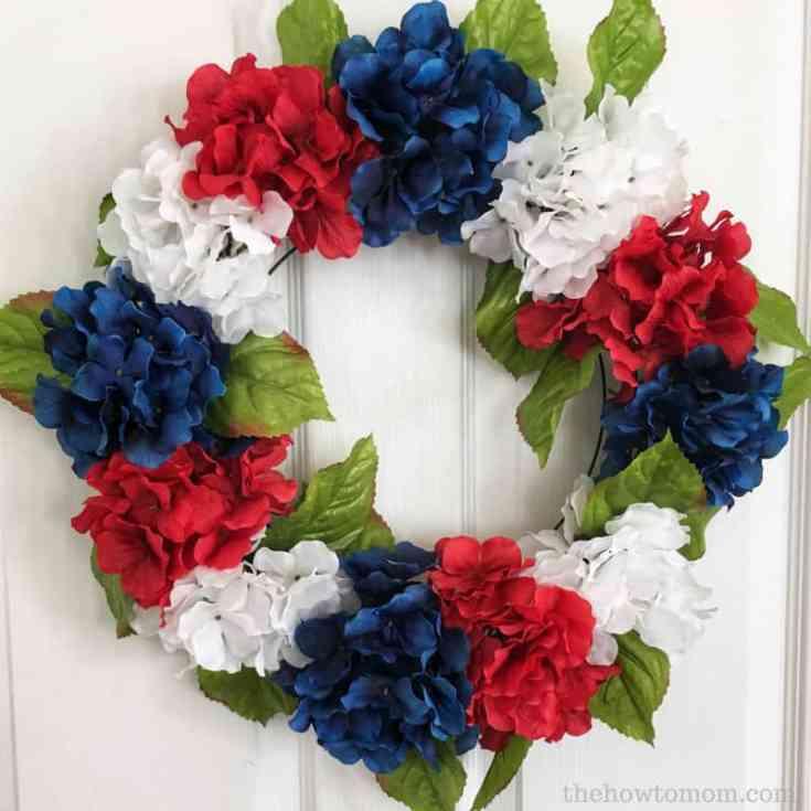 July - Patriotic Hydrangea Wreath