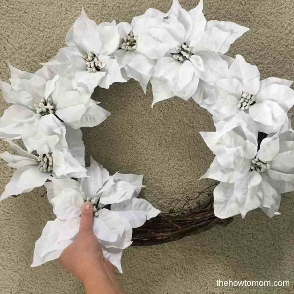 Easy Poinsettia Wreath DIY