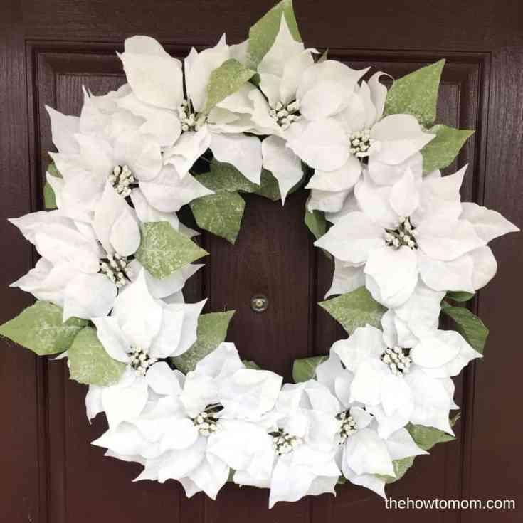 Snowy Poinsettia Wreath
