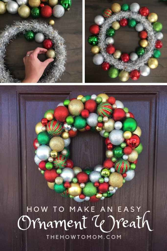 How to make an easy ornament wreath
