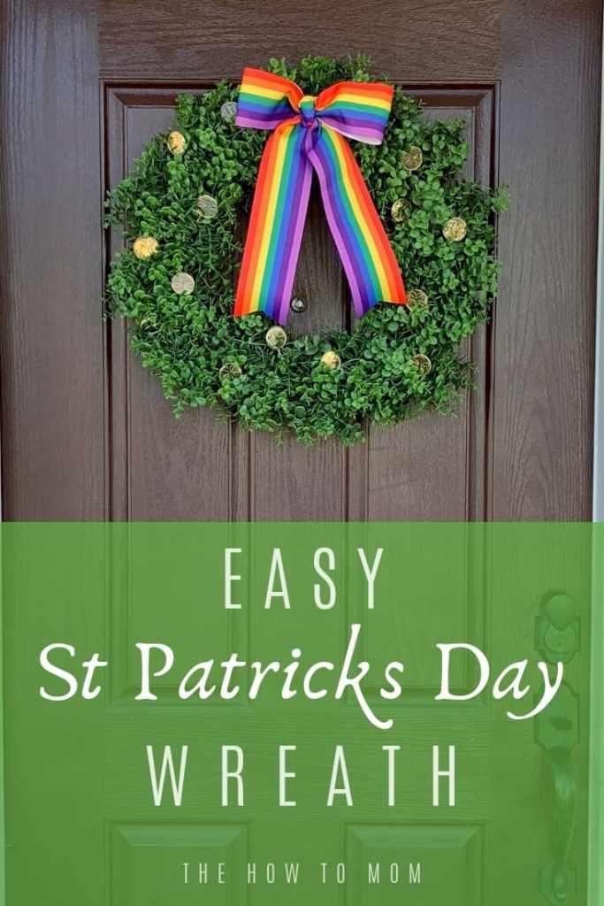 Easy St Patricks Day Wreath Idea