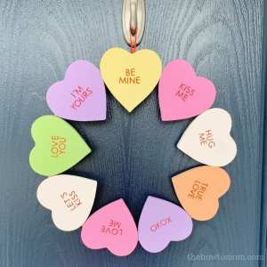 Conversation Heart Wreath DIY – Cute and Easy!