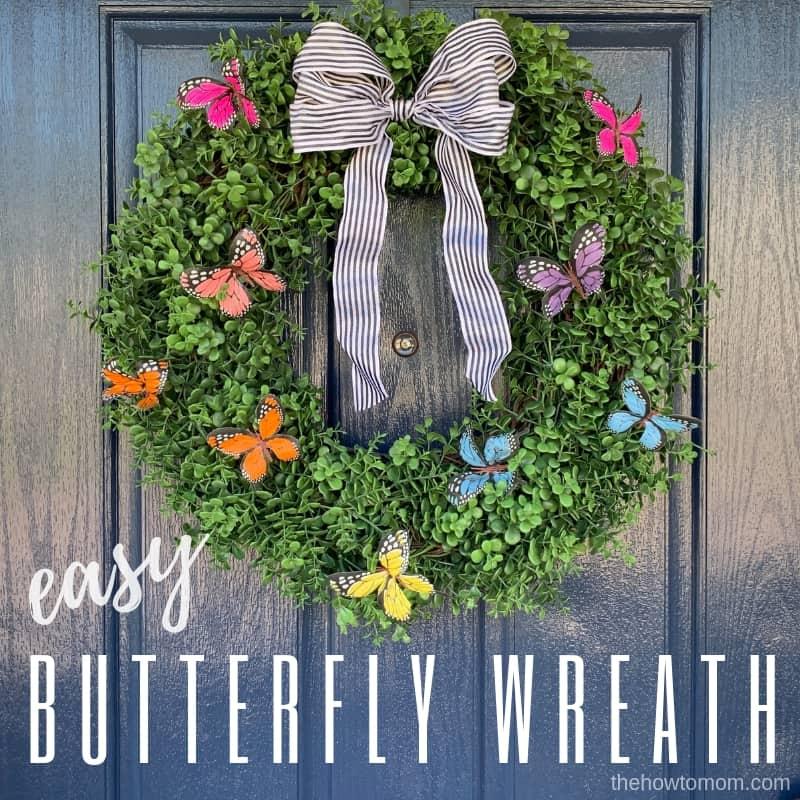 Easy Butterfly Wreath