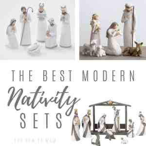 20+ Gorgeous and Modern Nativity Sets