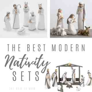 modern and minimal nativity sets