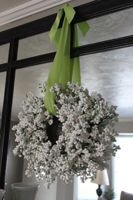 Dollar Store White Berry Wreath