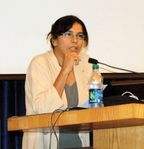 COURTESY OF YOU-ME PARK Ashwini Tambe spoke at the Women's and Gender Studies 25th Anniversary celebration.