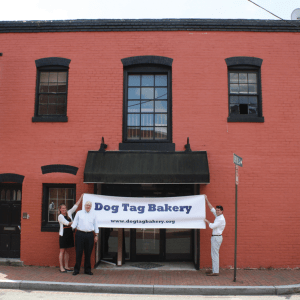 COURTESY RICHARD CURRY, S.J. Fr. Richard Curry, S.J., founded Dog Tag Bakery with the School of Continuing Studies to prepare disabled veterans for civilian life.