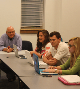 "ONNOR BERNSTEIN FOR THE HOYA Students in ""Kenya: Clean Water Project"" discuss plans for H2OYAS."