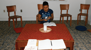 NICOLE MCKENZIE FOR THE HOYA The John Main Meditation Center, housed in the campus's oldest building, McSherry Hall, provides students with a space for spiritual contemplation.
