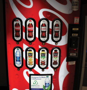 DANIEL SMITH/THE HOYA The Coca-Cola Company has exclusive pouring rights on campus, which encompasses vending machines.