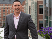 MICHELLE XU/THE HOYA Veteran and MBA student Justin Gandino-Saadein announced his candidacy on May 5 for the third congressional district of Virginia.