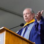 ALEXANDER BROWN/THE HOYA AAAS CEO Alan Leshner spoke at the NHS graduation ceremony.