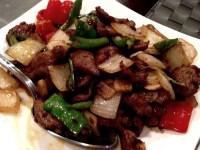 YIWEN HU/THE HOYA  Cumin lamb at Shanghai Lounge