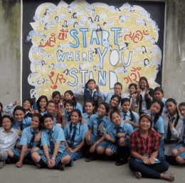 Courtesy of Claire Charamnac BIG DREAMS   Naylor and Charamnac help provide young women in Kathmandu, Nepal, with opportunities in leadership and entrepreneurship through Women LEAD.
