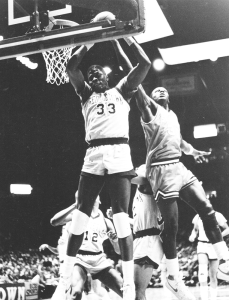 THE HOYA ARCHIVES Former Georgetown center Patrick Ewing and long-time agent for John Thompson Jr., David Falk, honored the coach with a joint donation.