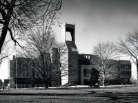 COURTESY GEORGETOWN UNIVERSITY ARCHIVES  Lauinger Library in 1970.